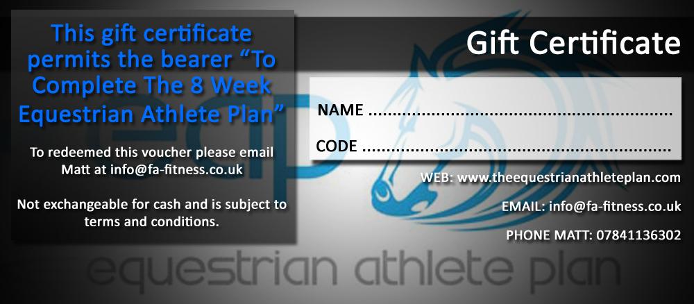 The Equestrian Athlete Plan Gift Voucher, Matt Luxton, Rider Fitness